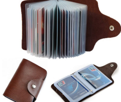 193460e369 New arrival Genuine leather business card case bag credit card holder 26  slots for men and women